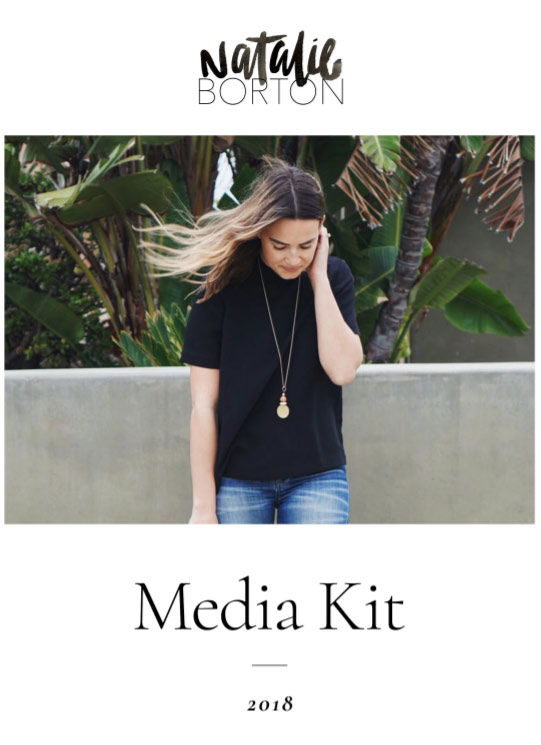 blog media kit cover page