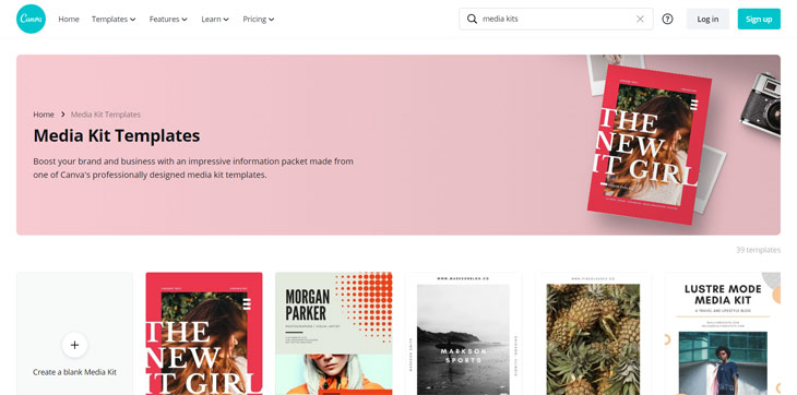 canva media kit templates