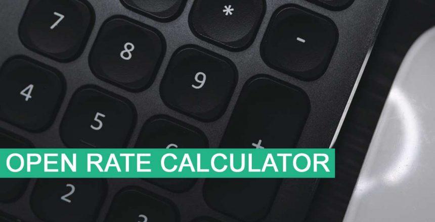 open rate calculator